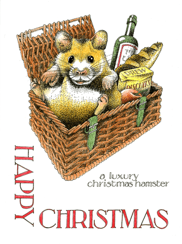 Funny Christmas Cards - Luxury Christmas Hamster