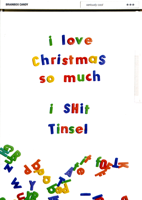 Funny Christmas Cards - Love Christmas - I Shit Tinsel