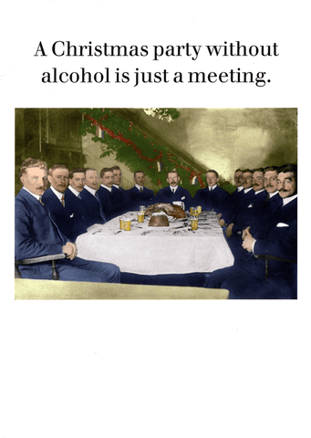 Funny Christmas Cards - Christmas Party Without Alcohol