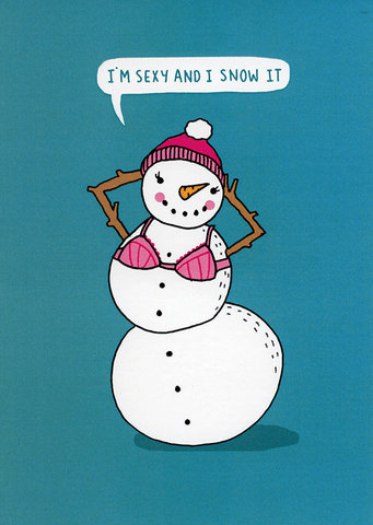 Funny Christmas Cards - Sexy And I Snow It