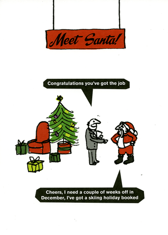 Funny Christmas Cards - Santa - You've Got The Job