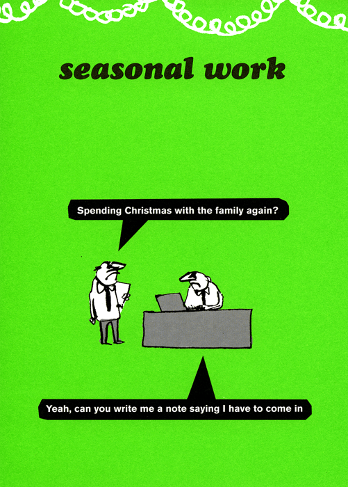 Funny Christmas Cards - Spending Christmas With The Family