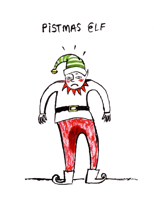 Rude Christmas Cards - Pistmas Elf