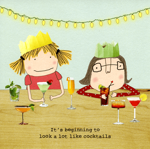 Funny Christmas Cards - Beginning To Look A Lot Like Cocktails