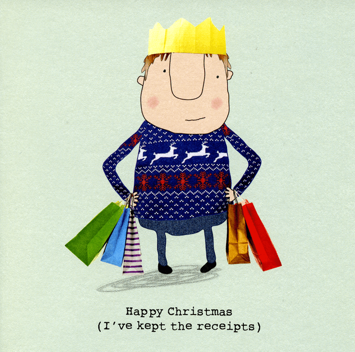 Funny Christmas Cards - Happy Christmas (I've Kept The Receipts)