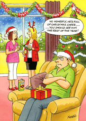 Funny Christmas Cards - Full Of Christmas Cheer