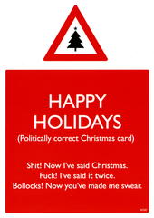Rude Christmas Cards - Happy Holidays