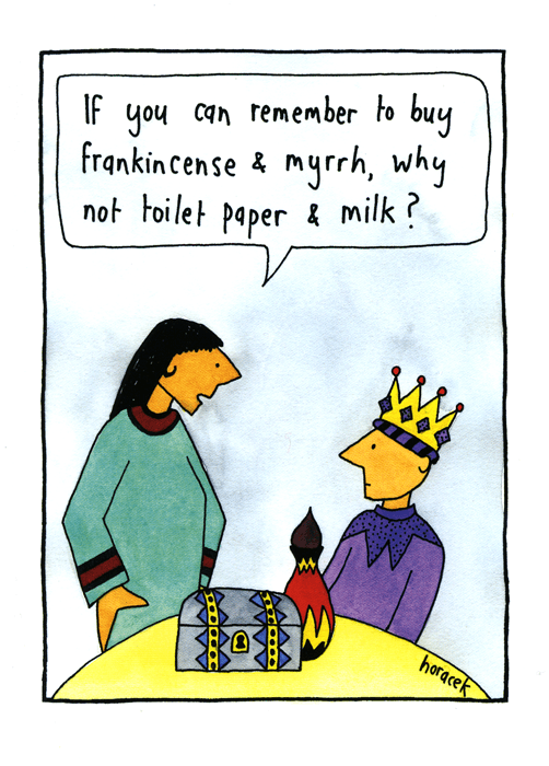 Funny Christmas Cards - Forgetful Wise Man