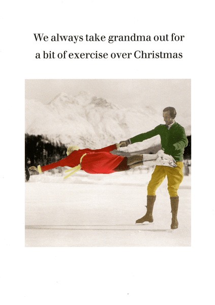 Funny Christmas Card - Bit of exercise for Grandma | Comedy Card Company