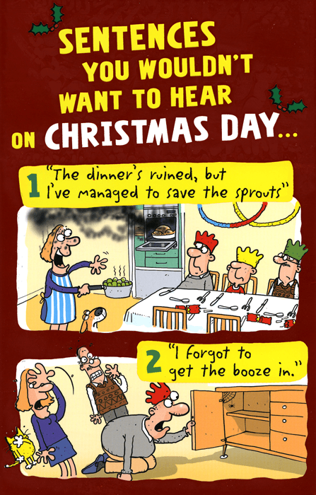 Funny Christmas Cards - Sentences Wouldn't Want To Hear On Christmas Day