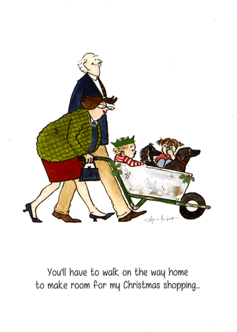 Funny Christmas Cards - Make Room For My Christmas Shopping