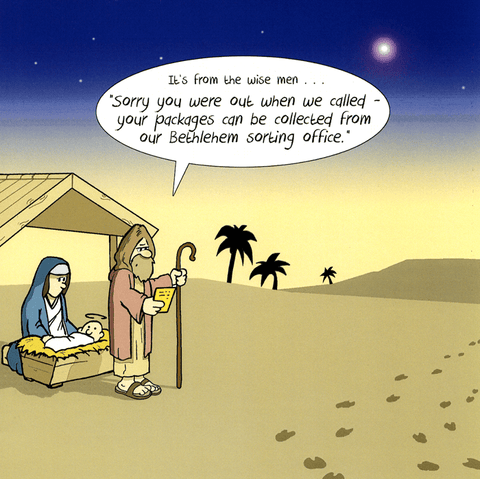 Funny Christmas Cards - Bethlehem Sorting Office