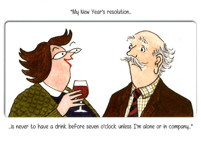 Funny Christmas Cards - Never Have A Drink Before 7 O'clock