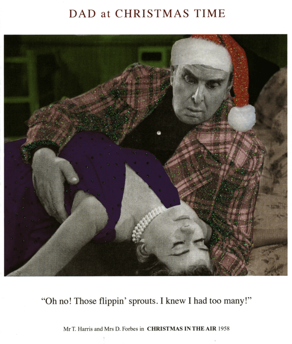 Funny Christmas Cards - Dad - Those Flippin' Sprouts