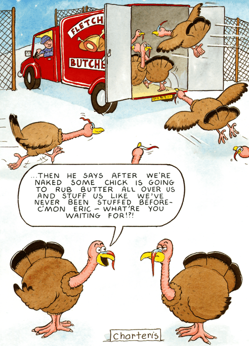 Funny Christmas Cards - Some Chick Is Going To Rub Butter All Over Us