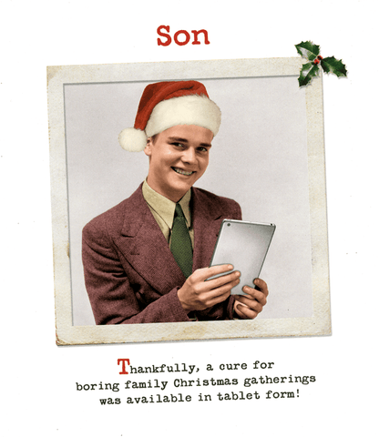 Funny Christmas Cards - Son - Cure For Family Christmas Gatherings