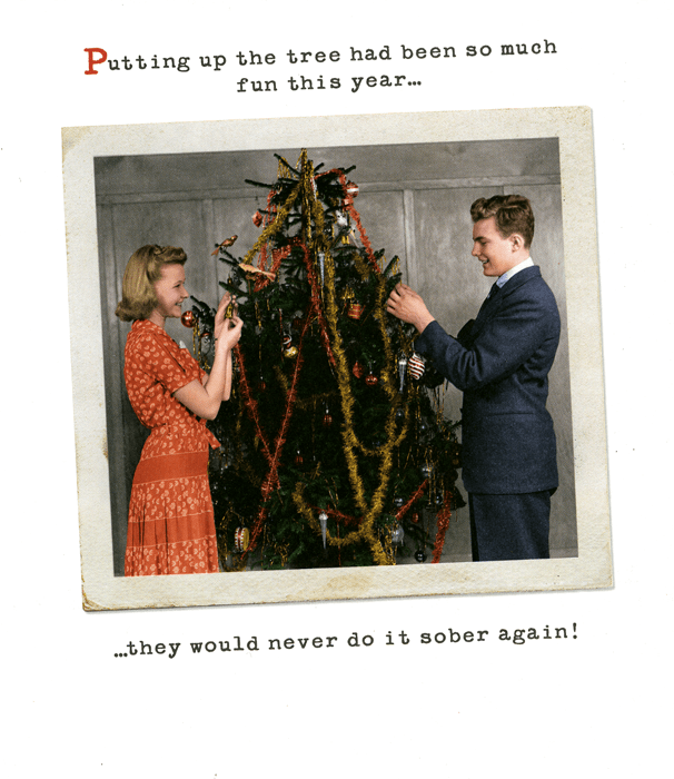 Funny Christmas Cards - Putting Up Tree So Much Fun