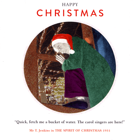 Funny Christmas Cards - Fetch Bucket Of Water - Carol Singers