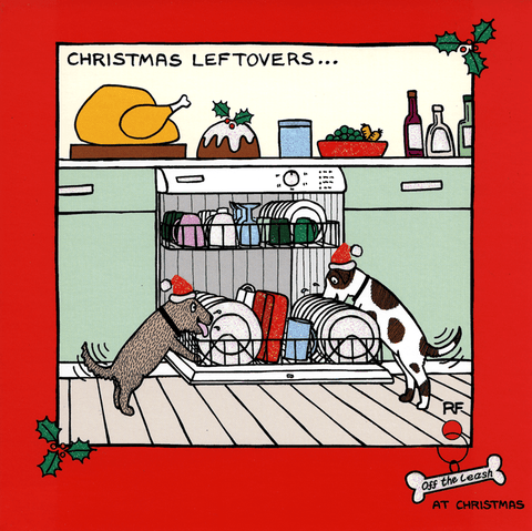 Funny Christmas Cards - Dogs - Christmas Leftovers