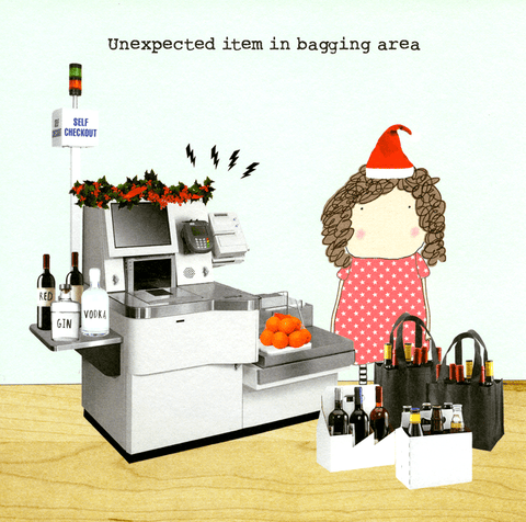 Funny Christmas Cards - Christmas - Bagging Area