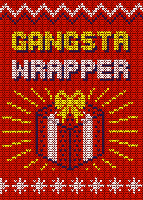 Funny Christmas Cards - Gangsta Wrapper