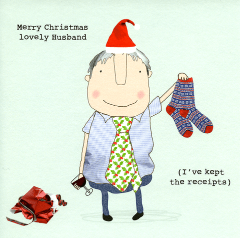 Funny Christmas Cards - Christmas - Husband - Kept The Receipts