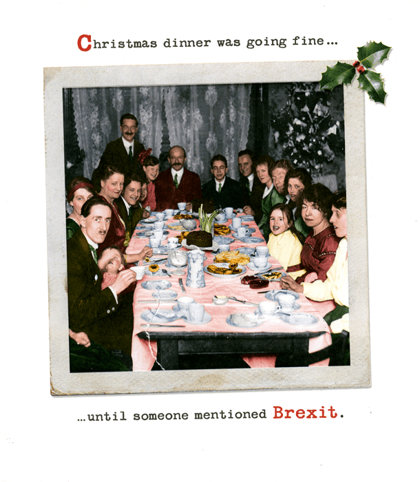 Funny Christmas Cards - Christmas Dinner - Brexit