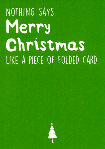Merry Christmas - Folded card