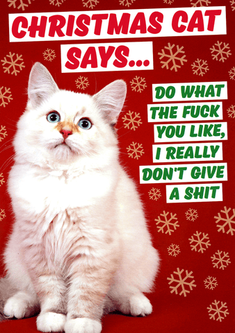 Christmas Cat Says