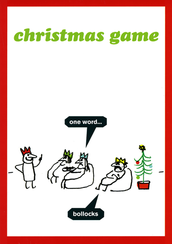 Funny Christmas Cards - Christmas Game - One Word