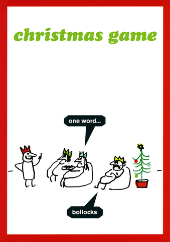 Christmas game - one word