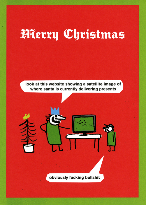 Rude Christmas Cards - Website Showing Where Santa Is