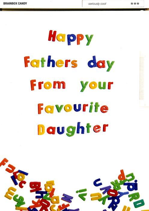 Funny Father's Day Cards - Father's Day - Favourite Daughter