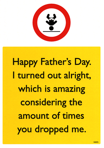 Funny Father's Day Cards - Amount Of Times You Dropped Me