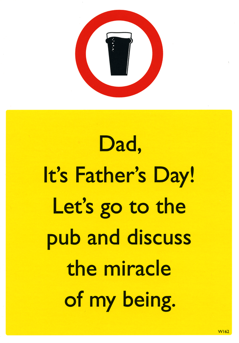 Funny Father's Day Cards - The Miracle Of My Being