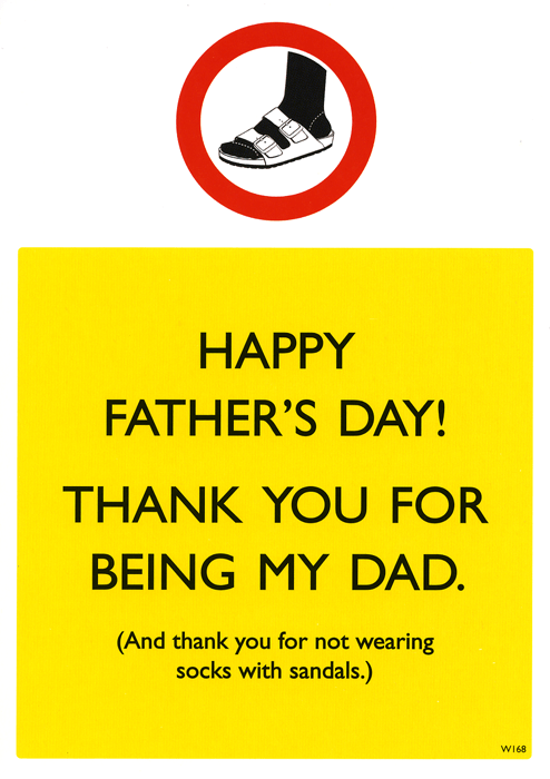 Funny Father's Day Cards - Thank You For Being My Dad And Not Wearing Socks With Sandals