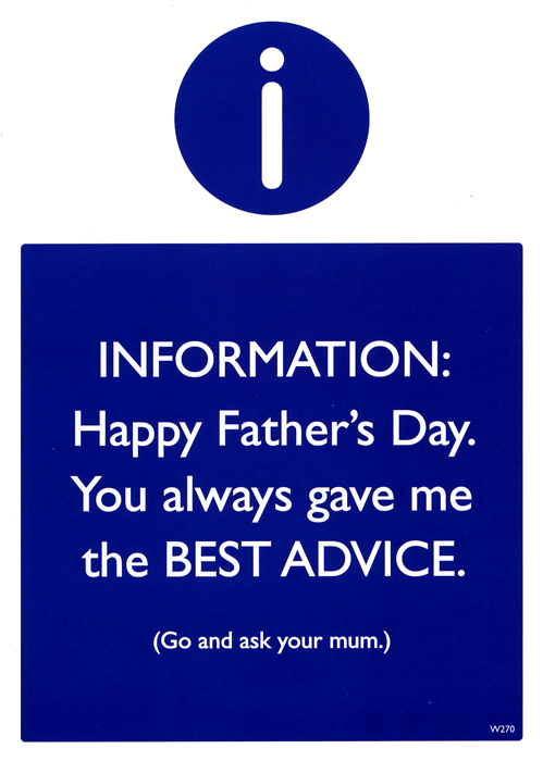 Funny Father's Day Cards - Father's Day - Always Gave Me The Best Advice