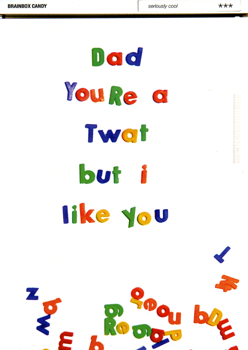Funny Father's Day Cards - Dad You're A Twat