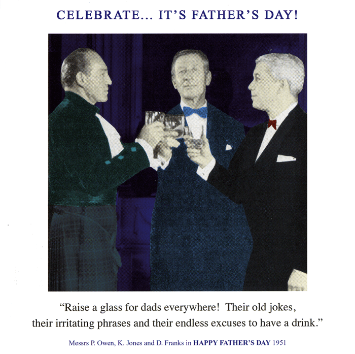 Funny Father's Day Cards - Raise A Glass For Dads Everywhere