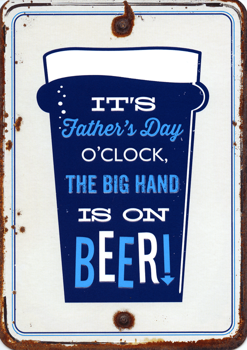 Funny Father's Day Cards - Father's Day - Big Hand Is On Beer