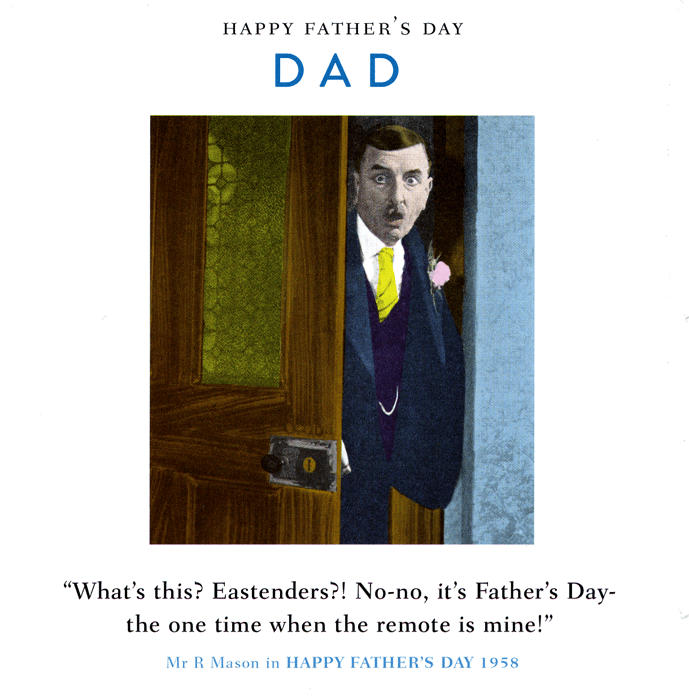 Funny Father's Day Cards - Dad - One Time When The Remote Is Mine