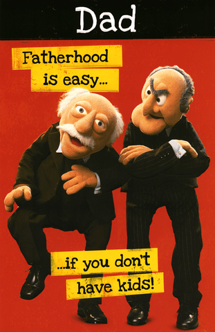 Funny Father's Day Cards - Fatherhood Is Easy - Muppets