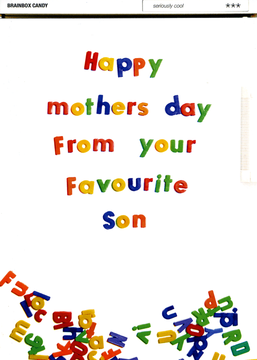 Mother's Day Cards - Happy Mothers Day From Your Favourite Son