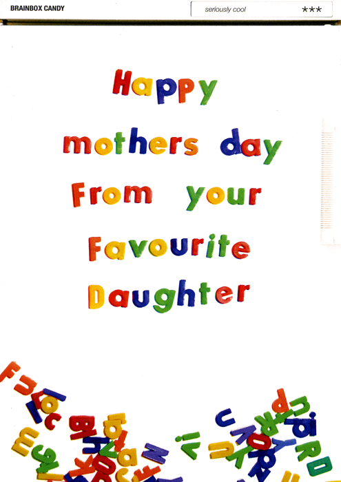 Mother's Day Cards - Happy Mothers Day From Your Favourite Daughter