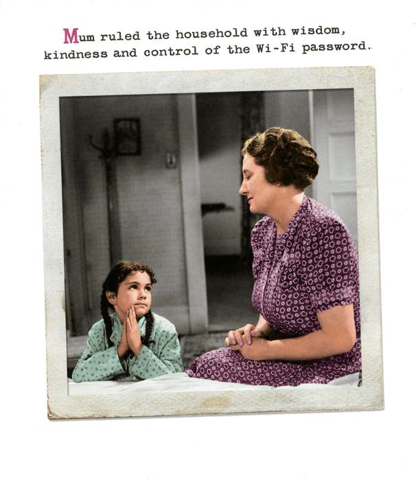 Mother's Day Cards - Control Of The Wi-Fi Password
