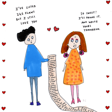 Valentines Cards - I've Listed 246 Flaws But I Still Love You