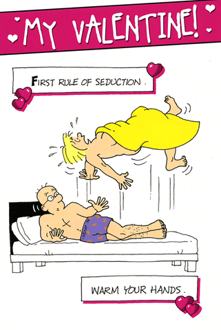 Valentines Cards - Valentine - First Rule Of Seduction
