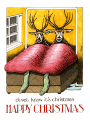 Funny Christmas Cards - Duvet Know It's Christmas