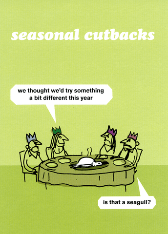 Funny Christmas Cards - Seasonal Cutbacks