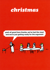Funny Christmas Cards - Getting Ready For The Argument